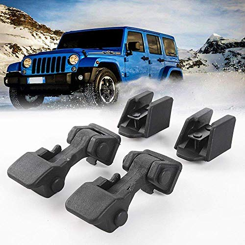 【2Pcs】Black ABS Hood Cover Latches Catch Set Kit for 1997-2006 Jeep Wrangler TJ Includes Both Hood Lock …