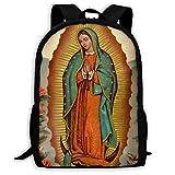 Mochilas Escolares Nuestra Señora De Guadalupe Virgen María Mochilas Mujer Hombres Impermeable Bolso De Escuela Elegante Mochilas Escolares Juveniles por Universitaria Material Escolar Viaje