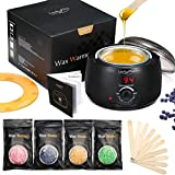 Wachswärmer Wachs Haarentfernung, Luckyfine Wachsmaschine Set Wax Warmer Heater Waxing Kit...