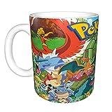 Taza de café con diseño de Pokémon, esta chica ama la Navidad, divertida taza de café de hija, esposa e hijo, taza en...
