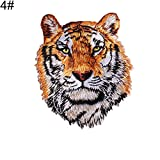 Parche bordado con diseño de león de tigre de Lsgepavilion para coser o planchar para ropa vaquera chaqueta 4#