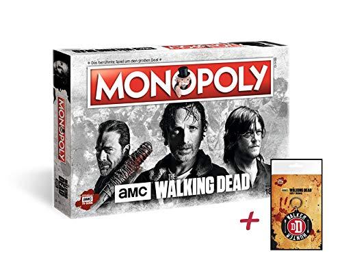 Monopoly The Walking Dead AMC + Zusatzartikel (mit Walker Hunter Schlüsselanhänger)