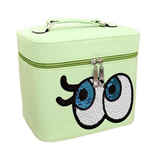 Big Eyes Wash Voyage Bag Cosmetic Box Bag Cosmetic Makeup Box, Vert