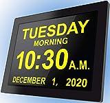 Véfaîî [2020 Version] 16 Reminders Electronic Calendar Clocks Digital Day Alarm Analog