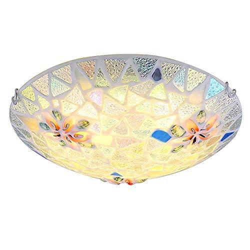 Kroonluchter Mediterrane schelp kinderkamer plafondlamp mozaïek creatieve slaapkamerlamp eenvoudige woonkamer eetkamer decoratieve plafondlamp (grootte: 30 cm), warm licht
