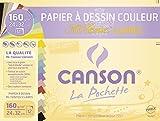 Canson 2789-ass (12hojas de papel de dibujo, 160g, 24x 32cm Colores Surtidos