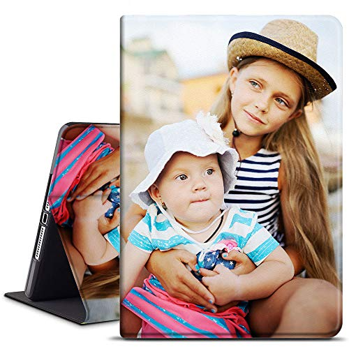 AIPNIS Custom Photo for iPad Air 2 9.7 inch 2014 Case, 2nd Generation Microfiber Lining Soft TPU Back Case Auto Sleep/Wake iPad Air 2 Smart Cover Protective Leather Personalized Picture