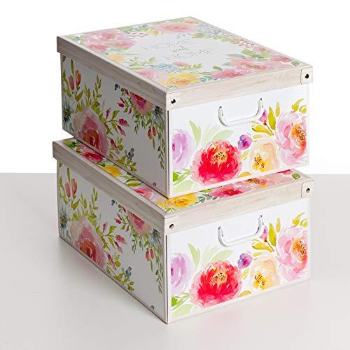 Kanguru Collection Sweet Home Set 2 PEZZI Cajas DE Almacenamiento, Cardboard, 1 Meters, 2