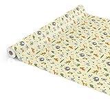 ANRO Tischdecke Wachstuch abwaschbar Wachstuchtischdecke Wachstischdecke Kinder Geburtstag Tiere Hellgrün 100x140cm - 2