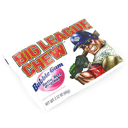 The Official Big League Chew Original Bubble Gum + Tray (12 Packs) with a Big League Chew Authenticity Seal