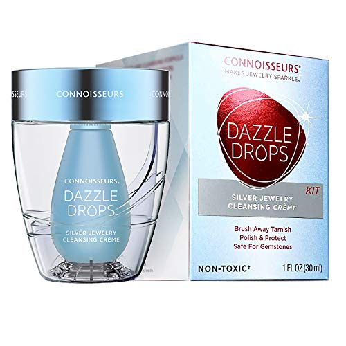 Connoisseurs Silver Jewellery Cleaner - Dazzle Drops for Removing Dirt & Preventing Tarnish - Cleaning Solution for Gemstones, Sterling - Non-Toxic