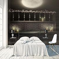 3Dポスター壁紙 月の美しさ 巨大な壁紙 不織布3Dアートモダンポスター画像リムーバブルDIYリビングルームカスタマイズ可能なサイズ壁画壁装飾 200X140cm (78X55inch)