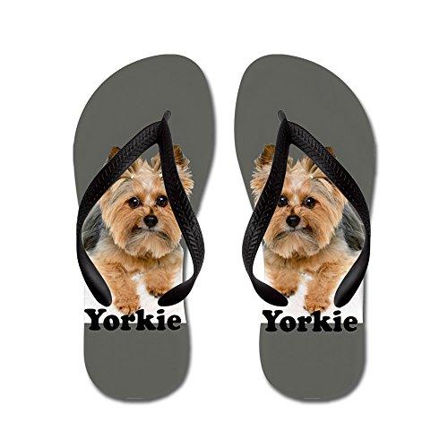 CafePress - Yorkie Fofa Rocks - Flip Flops, Funny Thong Sandals, Beach Sandals Black