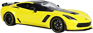 NY YN Modle Car 1:18 Chevrolet Corvette C7R Z06 Alloy Car Model Metal Children Pull Back Toy Car Boy Collection Vehicle Playsets ( Color : Yellow )