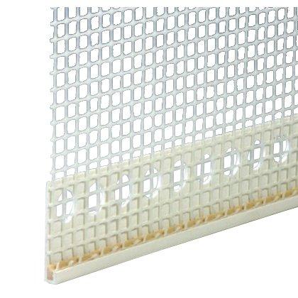 100m Abschlussprofil 3mm PVC mit Gewebe Putzabschlussprofil Putzprofil je 2,0 m