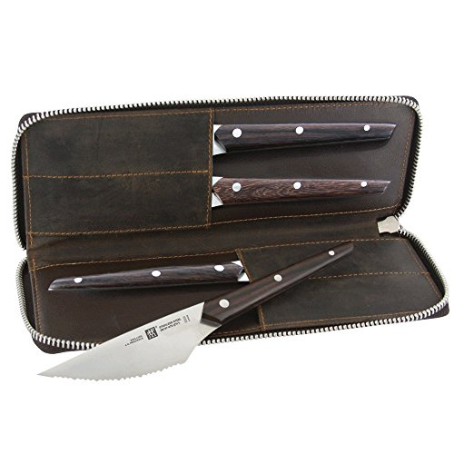 ZWILLING J.A. Henckels ZWILLING Knives Steak Knife Set, 4-piece, Brown/Stainless Steel