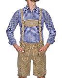 TREND 2020 - White Oktoberfest Lederhosen Men - REAL Leather - The Original Men's Lederhosen from Germany - Authentic German Octoberfest Outfit/Costume – Excellent Stitching & Details