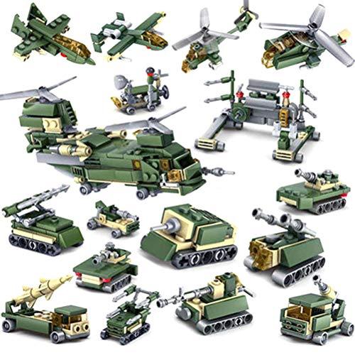 16 In 1 Dora Military Tank Kanone Bausteine Spielzeug Kit DIY Educational Kinder Geburtstagsgeschenke