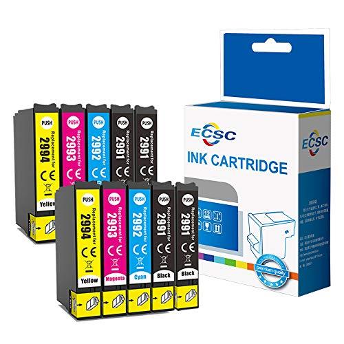 ECSC Compatibile Inchiostro Cartuccia Sostituzione Per Epson XP455 XP452 XP445 XP442 XP435 XP432 XP355 XP352 XP345 XP342 XP335 XP332 XP257 XP255 XP247 XP245 XP235 29XL (B/C/M/Y, 10-Pack)