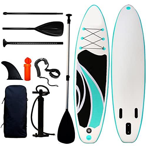 """ATGTAOS Tabla de Paddle Surf Inflable: Tablas de Paddle Surf para Adultos Premium con Accesorios de Sup Aleta Inferior de Mochila para Remar Control de Surf para Jóvenes Adultos,10.4'*31.4""""*6"""""""