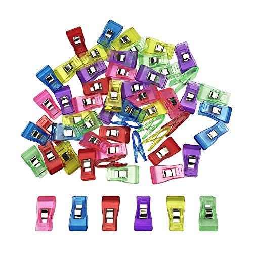 仮止めクリップ クリップ プラスチック 裁縫用品 便利グッズ 60個入り 6色 各色10カウント