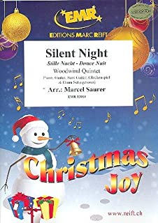 Silent Night for 5 woodwind instruments (ensemble) (rhythm group ad lib)