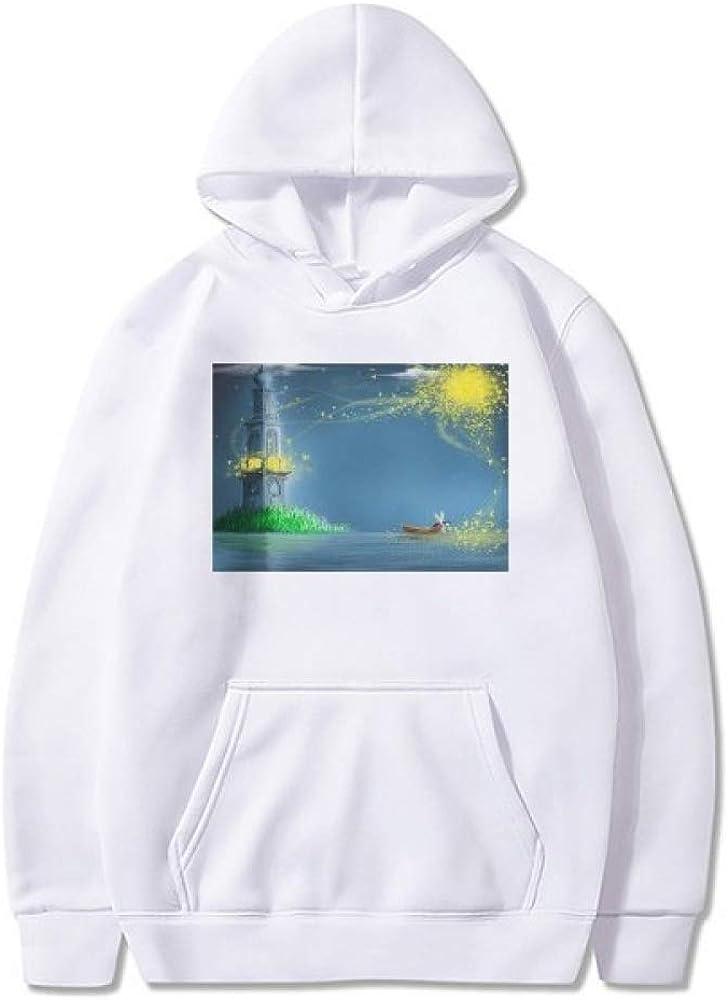 Silent Super intense SALE Night Lighthouse Fairy Import Painting Pullove Fuying Sweatshirt