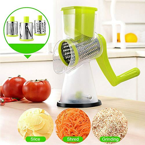 Syfinee Rotary Cheese Grater, Household Manual Vegetable Cutter Potato...