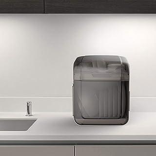MU Boîte de Rangement Portable pour Le ménage Vaisselle tridimensionnelle en Bois Massif Vaisselle à Deux Couches recouver...