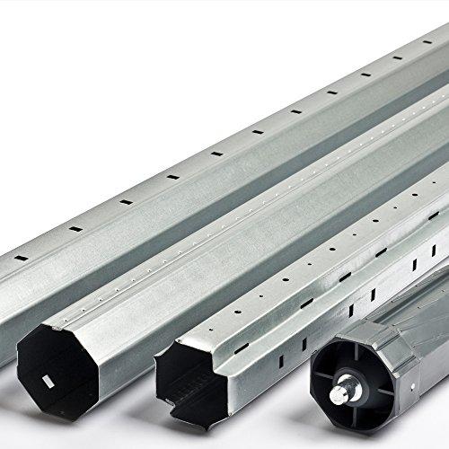 Stahlwelle / Teleskopwelle / Rolladenwelle Set mit Walzenkapsel Länge bis 240cm f. Rolladen Rollladen SW60 8-Kant