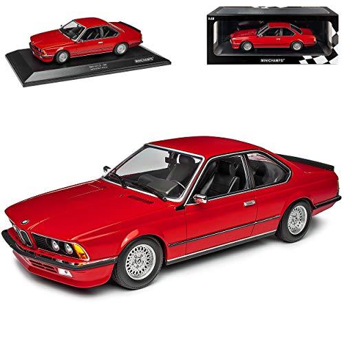 B-M-W 6er 635 CSI E24 Coupe Rot 1975-1989 limitiert 1 von 504 Stück 1/18 Minichamps Modell Auto mit individiuellem Wunschkennzeichen
