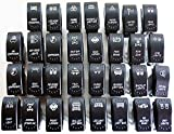 LED-Mafia Interruptor basculante para coche, barco, camión, luz de 12 V 24 V (cabrestante de control de vehículo, cabrestante – Winch Freespool JJ16)