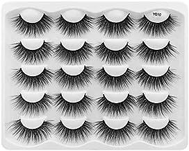 10ペア3Dミンクまつげ 濃密 化粧 ナチュラル つけまつげ ロング まつげ の エクステンションフェイクまつげ (Y010)
