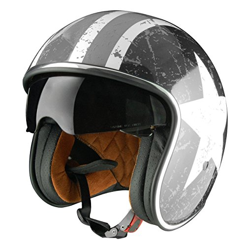 Origine Helmets Sprint Rebel Star Grey - Casco Abierta,