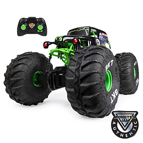 Image of Monster Jam, Official Mega Grave Digger All-Terrain Remote Control Monster Truck with Lights, 1: 6 Scale