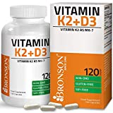 Vitamin K2 (MK7) with D3 Supplement - Bone and Heart Health Non GMO Formula - 3000 IU Vitamin D3 & 100 mcg Vitamin K2 MK-7 - Easy to Swallow Vitamin D & K Complex 120 Vegetarian Capsules