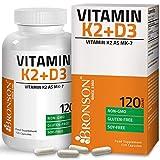 Vitamin K2 (MK7) with D3 Supplement - Non GMO Formula - 3000 IU Vitamin D3 & 100 mcg Vitamin K2 MK-7 - Easy to Swallow Vitamin D & K Complex 120 Vegetarian Capsules