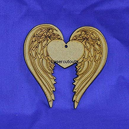 Free Standing 18mm MDF Angel Wings Craft Shape Various Sizes.