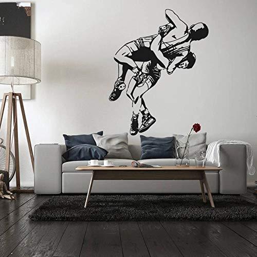Wrestling Jiu-Jitsu vinilo pintura griego romano estilo libre pintura diseño etiqueta de la pared
