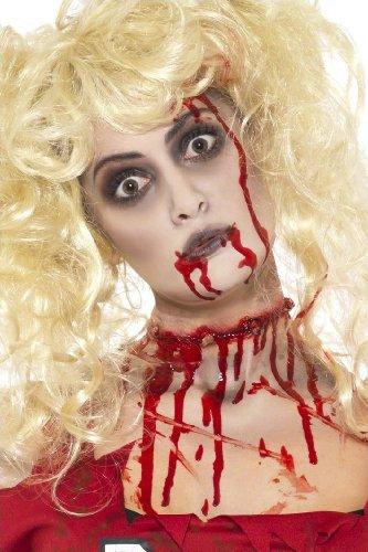 COOLMP - Kit de Maquillaje Zombie para Mujer, Talla única, Maquillaje de Fiesta, Pelo, Piel, Labios, Ojos, Carnaval, Fiesta de Disfraces, cumpleaños, etc.