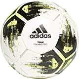 adidas Team Training Pro Ballon d'entraînement Mixte Adulte, White/Solar Yellow/Black/Iron Metallic, FR Unique (Taille Fabricant : 4)