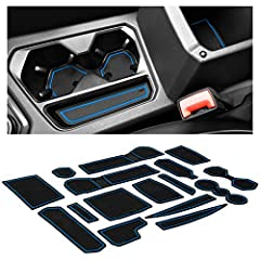 ✅NEW CAR LUXURY THAT LASTS - Our custom Tiguan car interior liners and cup holder mats are engineered in the USA with a unique design that offers a precise fit you won't find elsewhere, perfectly placed tab handles for easy removal, a sleek mods look...