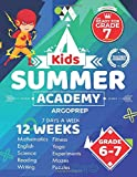 brain quest grade 6 - Kids Summer Academy by ArgoPrep - Grades 6-7: 12 Weeks of Math, Reading, Science, Logic, Fitness and Yoga | Online Access Included | Prevent Summer Learning Loss