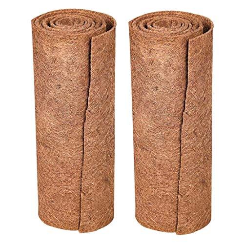 2pcs fibre de coco Tapis Tapis Reptile haut de gamme naturelle pour animaux Lézard Serpent Chamelon Tortue Literie Lapin Mat (Brown) Décoration de jardin