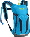 CamelBak Mini M.U.L.E. Kids Hydration Backpack, 50 oz, Atomic Blue/Navy Blazer