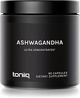 10% Withanolides Ultra Concentrated Ashwagandha Capsules - 19,500mg 15x Concentrated Extract - Wild Harvested in India - 9...