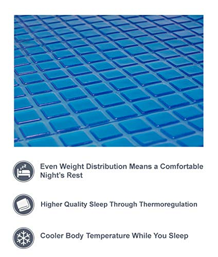 Cooling Gel Mattress Topper - Bed Cooling Mattress Pad to Help You Stay Cool - Silent, Comfortable, Effective Long Lasting Heat Relief (Queen 80 Inches x 60 Inches)