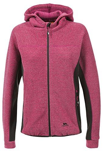 Trespass Floxy, Cerise, M, Warme Fleecejacke mit Kapuze 320g/m² für Damen, Medium, Rosa / Pink