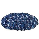 Rehomy Cubierta Antipolvo de Almacenamiento de Protección Solar UV Resistente Al Agua de 4.5 M para Barco de Kayak de 3.6-4 M (Camuflaje Oceánico)