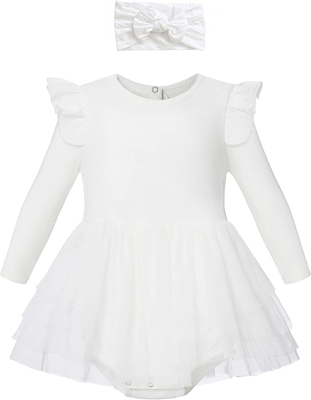 Organic Cotton Max 76% OFF Baby Girl Ruffle Dress Tulle New York Mall Summer Romper